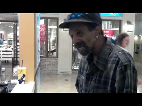 Homeless man raps for a pretzel