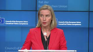 Foreign Affairs Council (Defence): Extracts from the press conference by HRVP Federica MOGHERINI