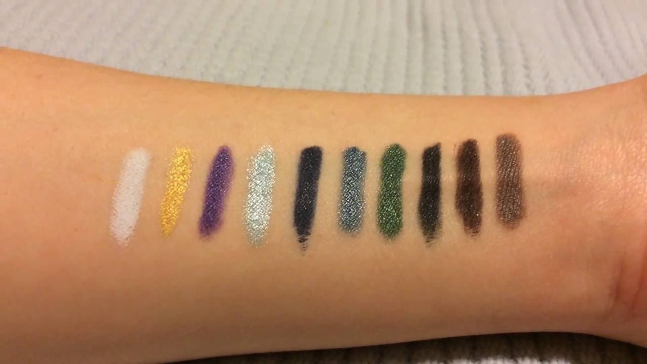 7153cdcb19c Younique Moodstruck Precision Pencil Eyeliners Swatch - YouTube