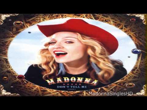Madonna - Don't Tell Me (Radio Edit)