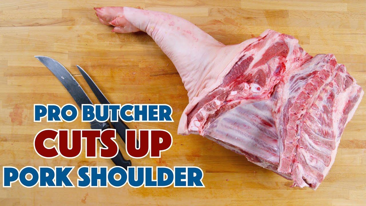 Download PRO BUTCHER Cuts Up PORK Shoulder