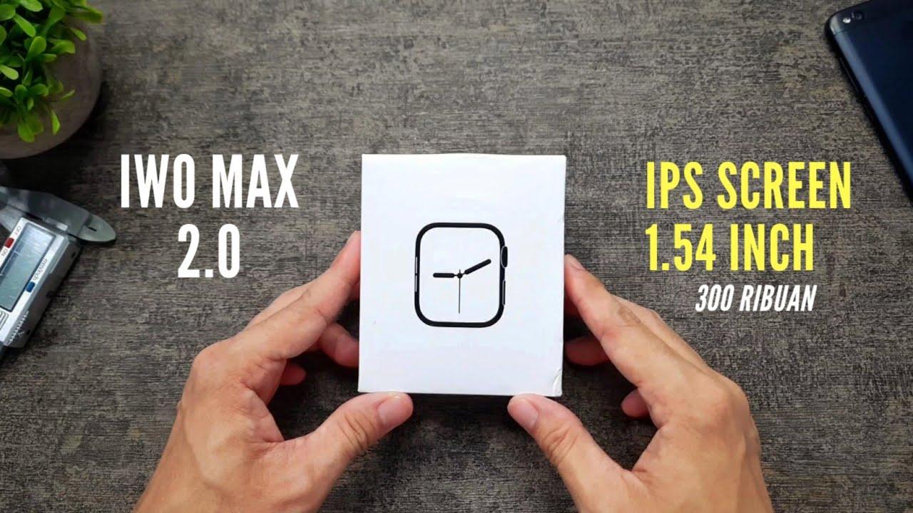 SMARTWATCH MURAH BISA TELPONAN, LAYAR GEDE - IWO MAX 2.0