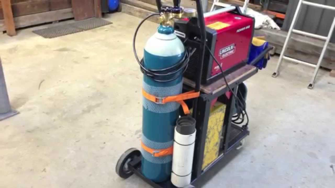 Cheap Mig Welder >> How to build a welding trolley for MIG setup - YouTube