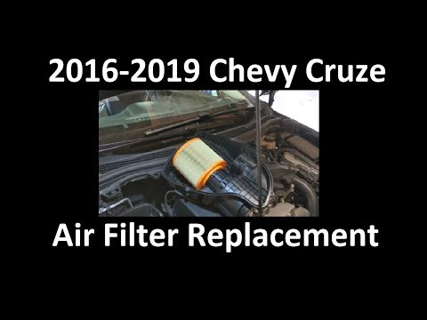 2016-2019 Chevy Cruze Air Filter Replacement