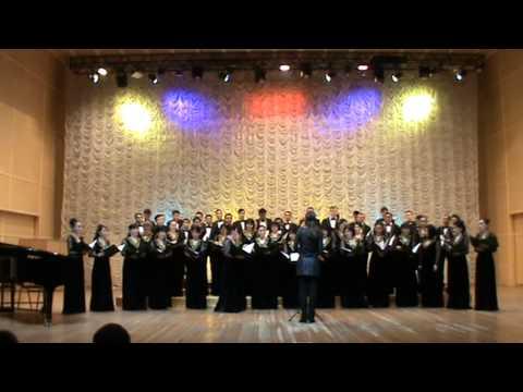 Концерт хоровой  капеллы им.Б.Байкадамова РК,  Дирижёр, Кёрстин Бенке (Германия)
