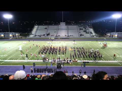 Donna High School Mighty Redskin Band at Pigskin Competition 2013