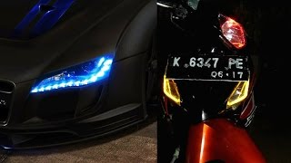 Cara Membuat Lampu Sein dari LED Fleksibel.(Flexible LED turn signal)