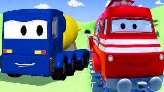 Troy el Tren y el Mezclador de Cemento en Auto City | Dibujos animados para niños