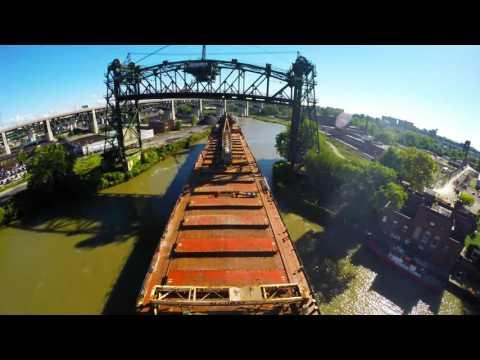 Back out Cuyahoga River, Cleveland