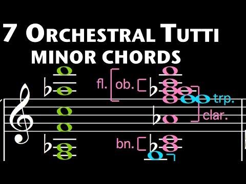 7 Orchestral Tutti minor chords