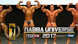 NABBA Mr Universe 2017 - Over 40's Call-out's and Comparisons
