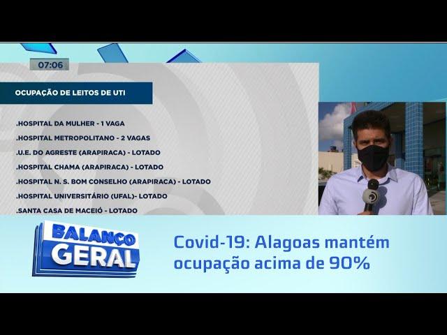 UTI's para Covid-19: Estado crítico: Alagoas mantém ocupação acima de 90%