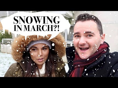 SNOWING IN MARCH?! WHAT THE HECK!! Vlog 38| Charlotte Palmer Evans