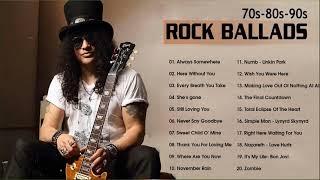 Best Slow Rock Rock Ballads 70' 80' 90' Playlits - Scorpions, Led Zeppelin, Bon Jovi, U2, Aerosmith