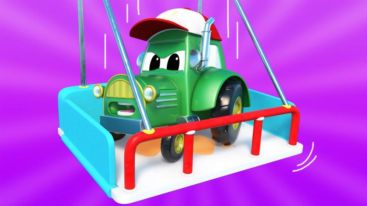 Phim hoạt hình về xe tải dành cho thiếu nhi –  Xe máy cày suýt ngã – Thành phố xe hơi