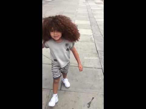 Cherish Big Curly Hair Boy Faroukjames In Slow Motion Youtube