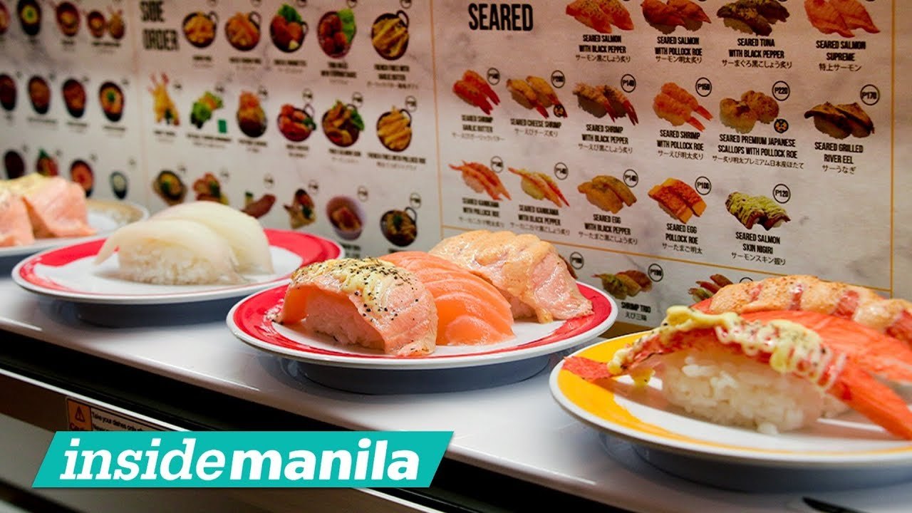 A Conveyor Belt Sushi Experience With Genki Sushi Youtube
