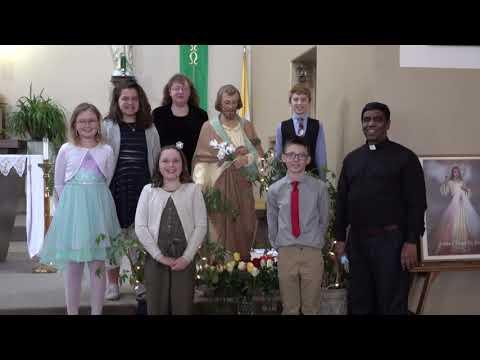 Thorp Catholic School week 2021 promo . Enthronement of St. Joseph.