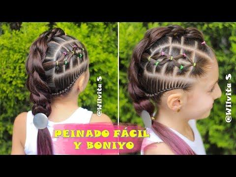 peinados-fáciles-para-niña-paso-a-paso-/-tutorial-trenzas-de-moda-/wilvita-♥️