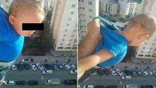 Из за лайков Алжирец чуть не выбросил своего сына в окно!!!