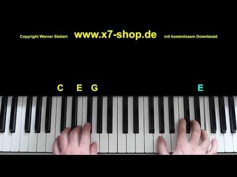 Stille Nacht heilige Nacht Weihnachtslied, Klavier Tutorial, silent night,