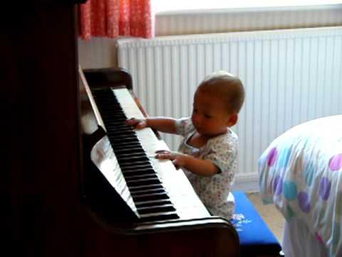 Little Ben play piano