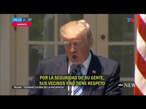 "Donald Trump sobre Corea del Norte: ""Se terminó la paciencia"""