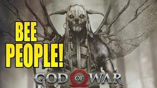 ANGRY BEE MEN! God Of War Hard Mode Rage! (#10)