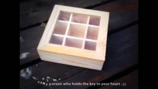 Multicellular Glass Wooden Box 9 Packaging Box Tea Storage Gift Jewelry Box 15*15*5.2cm