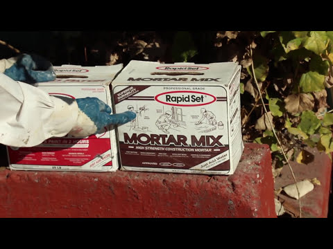 hydraulic cement foundation repairs, Oops forgot the mic, freeway noise