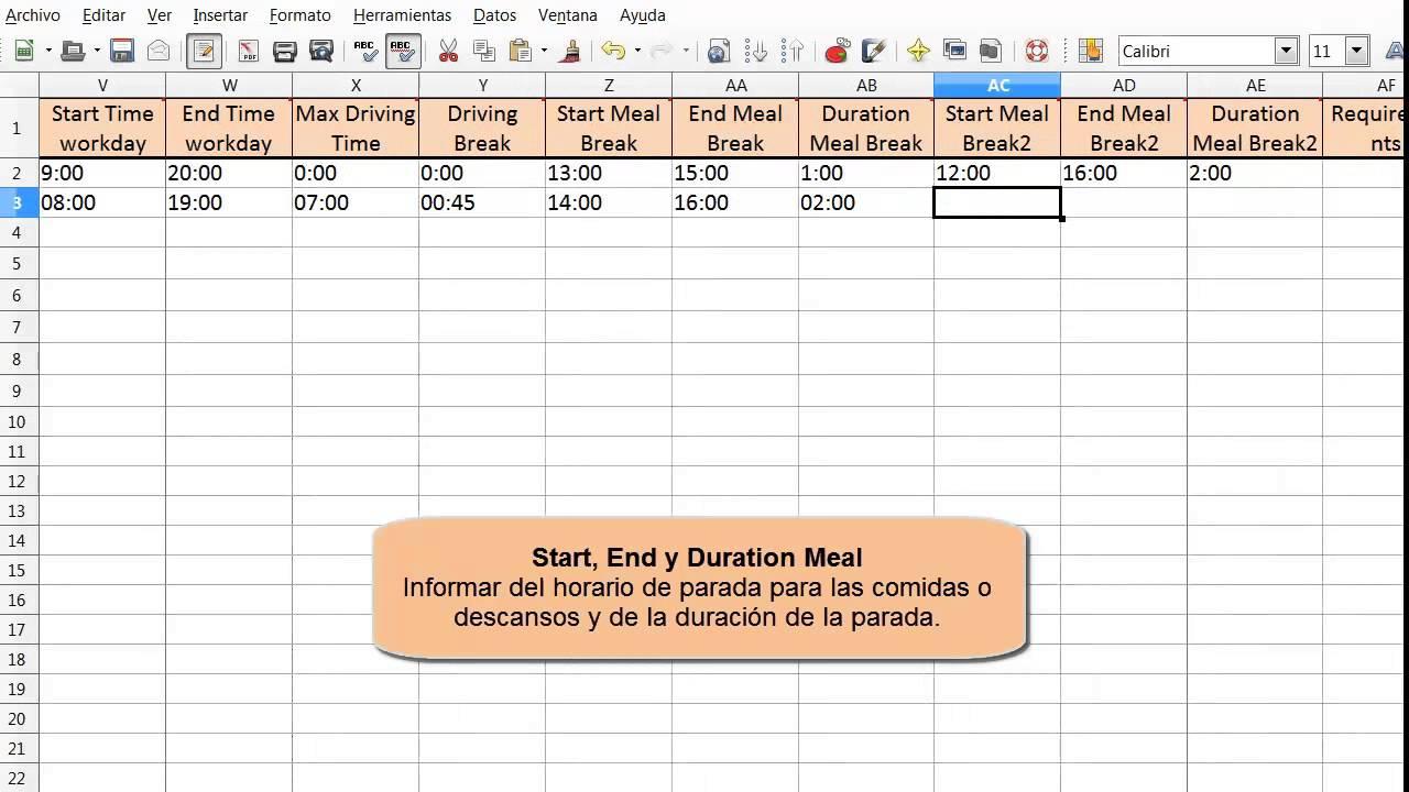 Routing Reparto: Excel de vehículos de planificación de rutas - YouTube