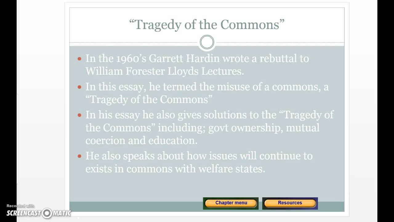 powerpoint voice recording tragedy of the commons  powerpoint voice recording tragedy of the commons