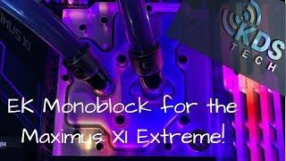 EK Momentum Monoblock for Asus Maximus XI Exteme intallation