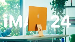 Первый взгляд на iMac 24 - семь новых цветов, M1 и Touch ID!