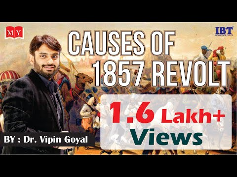 Causes of 1857 Revolt || For SSC Exam || Online Class || Dr Vipan Goyal