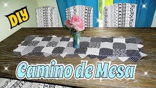 Como hacer Camino de mesa con retazos de tela DIY Costura facil