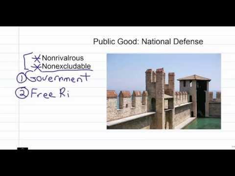 Public vs. Private Goods: Market Failure