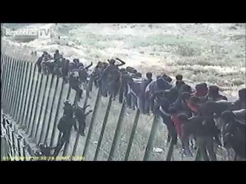ca. 1100 Migranten stürmen europäische Grenze (Melilla/Ceuta in Marokko)