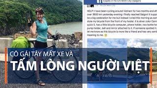 Cô gái Tây mất xe và tấm lòng người Việt   VTC1