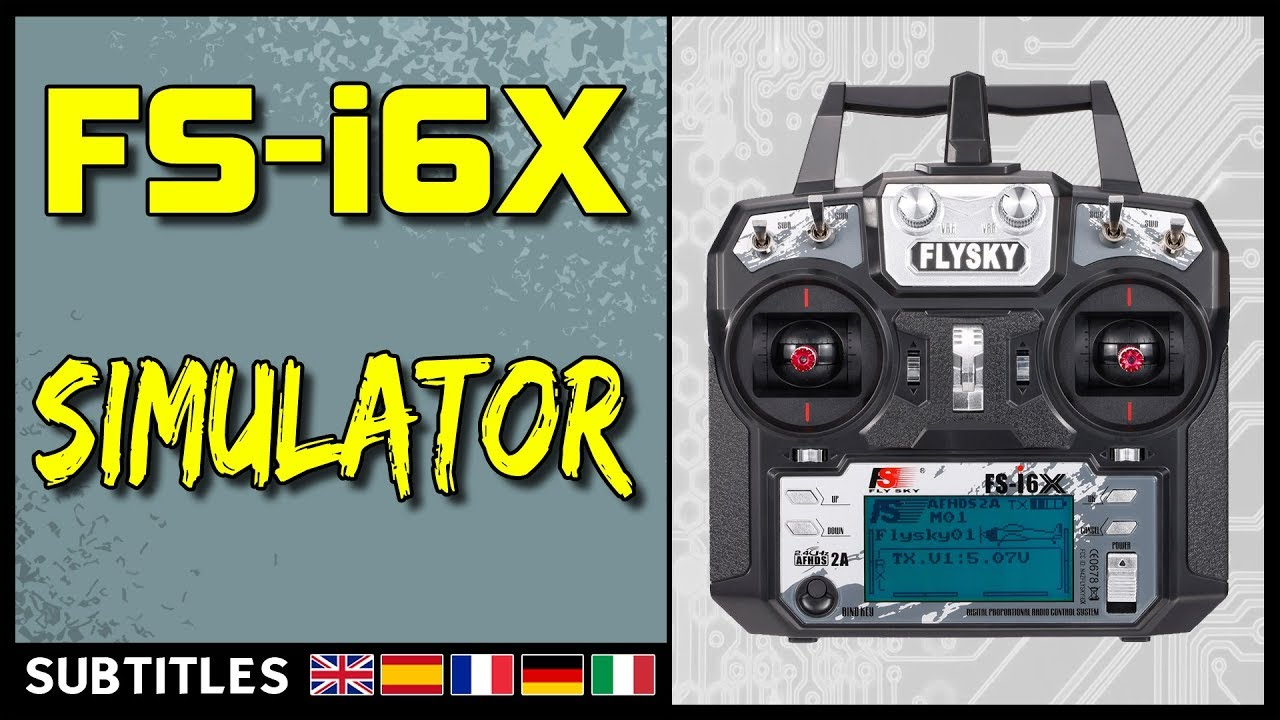 Flysky FS-i6X - Simulator (Liftoff, Velocidrone, DRL Simulator)
