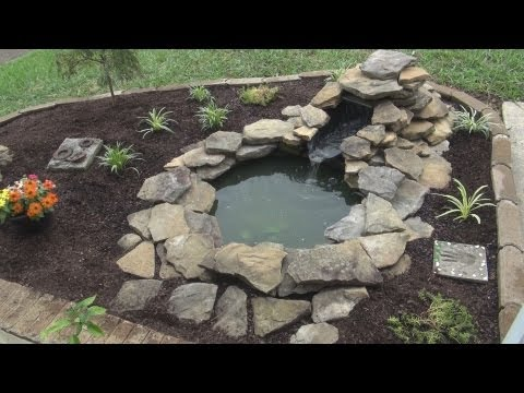 Decorative Garden Pond Setup