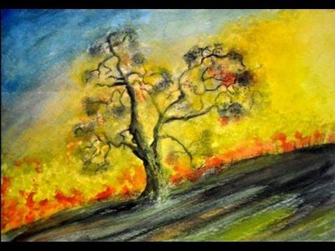 Cómo Dibujar Un árbol Con Acuarelas Pintar Un Arbol Con Acuarelas