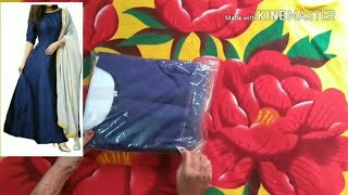 Unboxing long anarkali boll gown and net dupatta from Amazon stylish gown long gaun dress photo