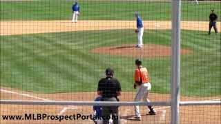 Blue Jays RHP Drew Hutchison vs  Orioles 3B Ryan Flaherty   spring training 2012