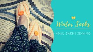 Winter socks knitting new design for women