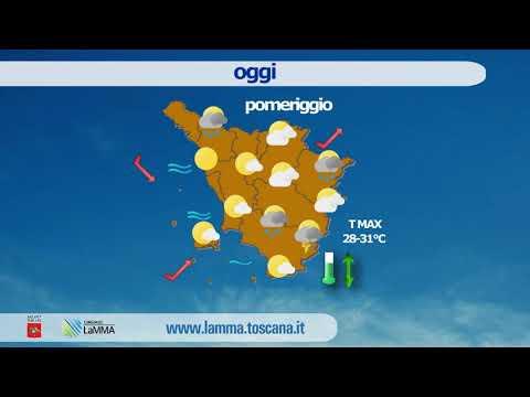 Il meteo di oggi in Toscana - giovedì 16 luglio