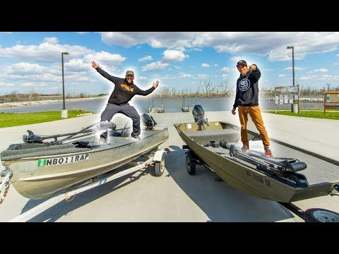 Jon Boat Fishing Tournament VS FLAIR || 50 State Fishing Tour (Lake Wannahoo NE)