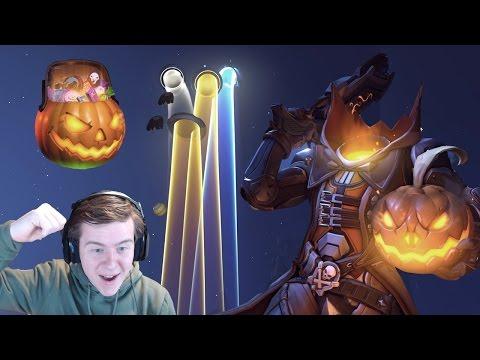 Overwatch: Unboxing 101 Halloween Loot Boxes!