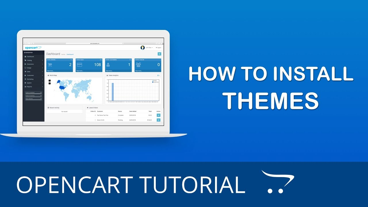 How To Install A Theme In Opencart 3x Youtube