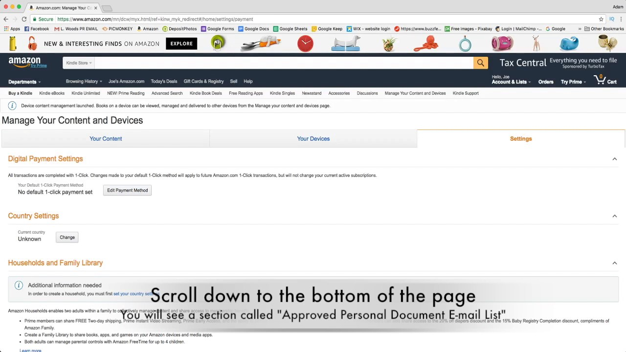Kindle Fire Hdx: How To Delete Personal Dictionary Youtube Search History  How To Add An Email Address On Your Amazon Approved Senders List